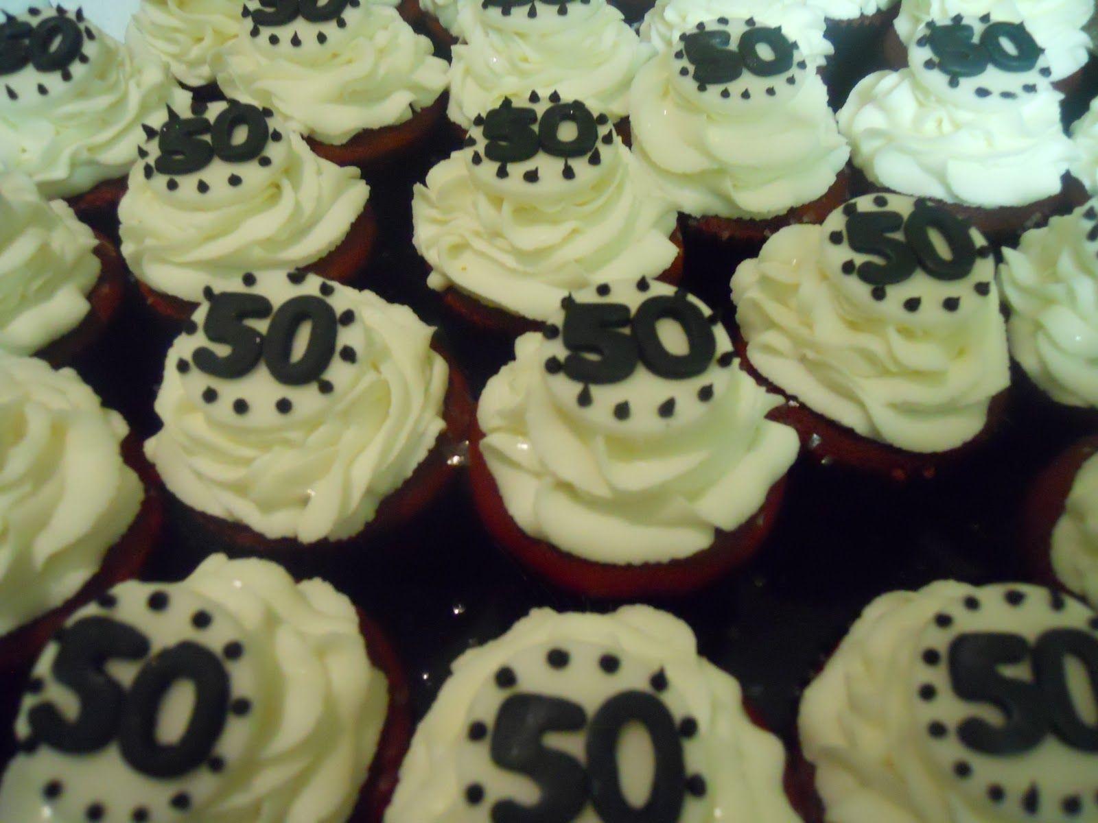 50th birthday cupcake ideas 50th Birthday Sweet treats