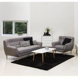 Photo of Ac Design Oswald lenestol 93x84x87cm grå / naturlig grå / naturalPiolo.de