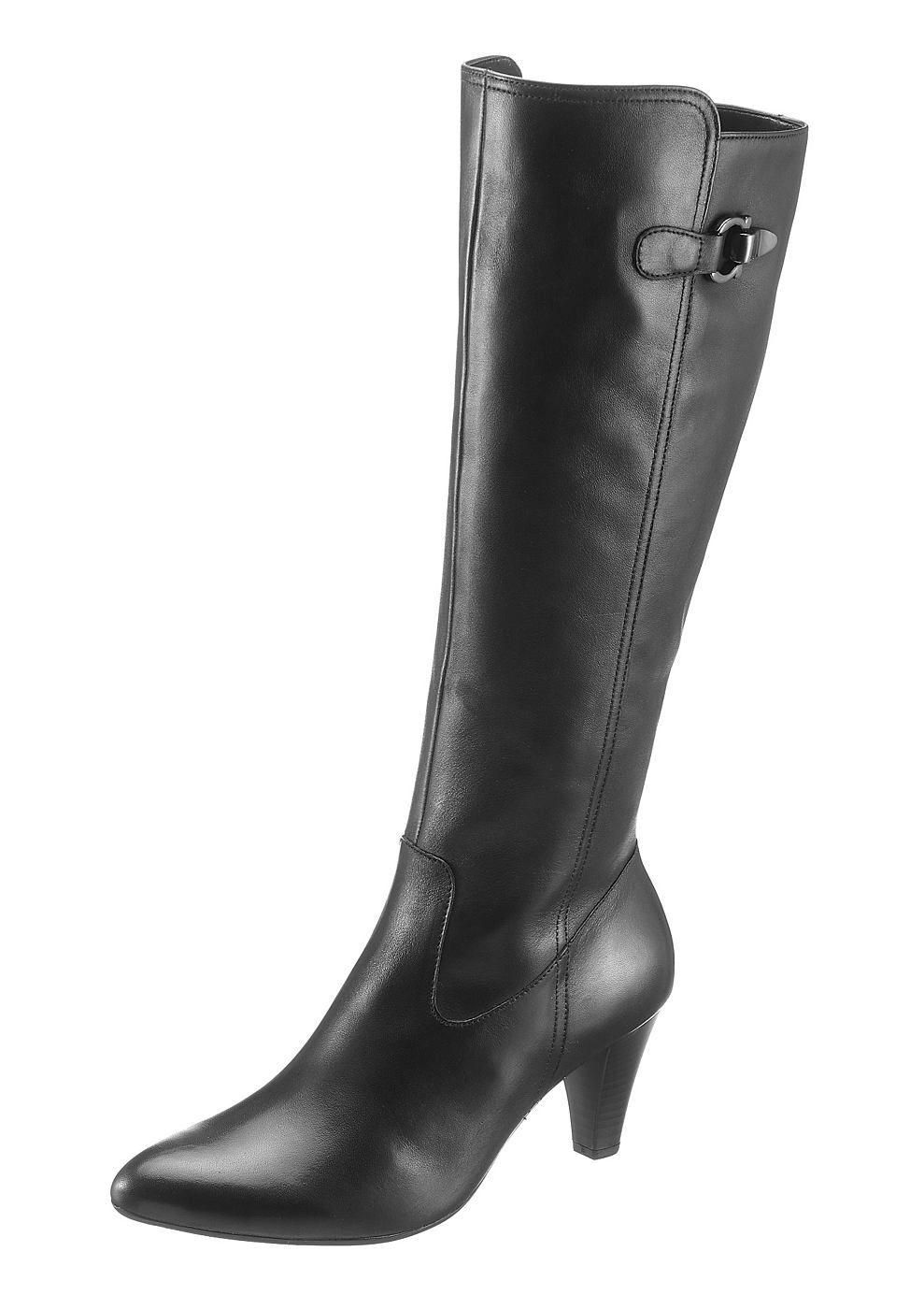 a617f48f51f466 Gabor Stiefel mit modischen Raffungen