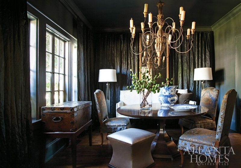 Midnight Blue Dining Room By Susan Ferrier Of McAlpine Booth Interiors Atlanta Homes Lifestyles