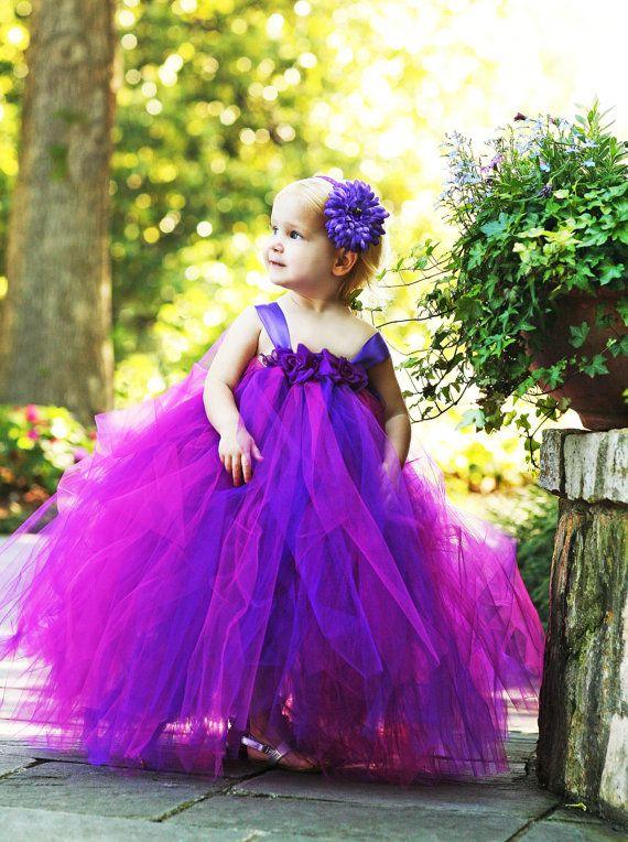 Flower Girl Tutu Dress Plum Perfection by TutuBellaCoutureLtd, $89.00