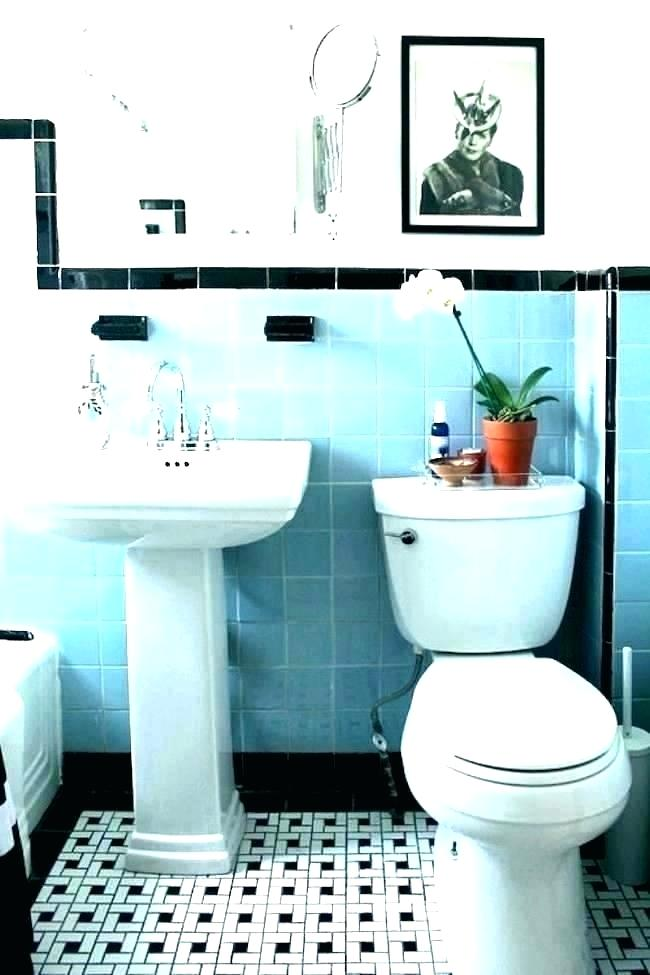 old blue tile bathroom ideas romeas