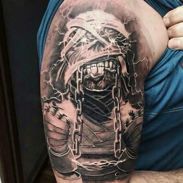 heavy metal tattoos eddie ironmaiden tattoo heavymetal on