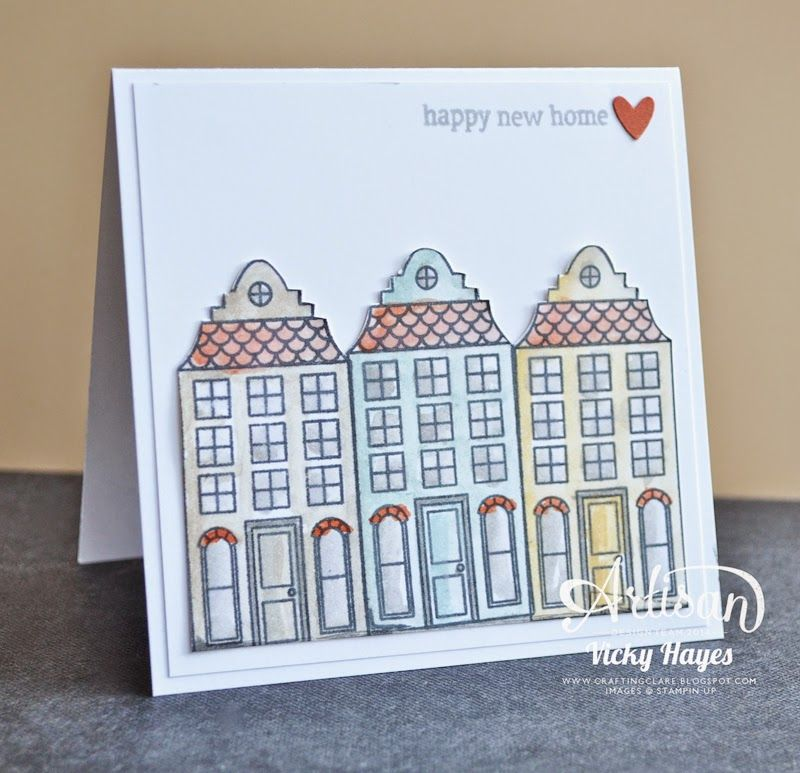 Delightful Card Making Ideas For Moving House Part - 5: Stampinu0027 Up Ideas And Supplies From Vicky At Crafting Clareu0027s Paper  Moments: Moving House With Holiday Home By Stampinu0027 Up
