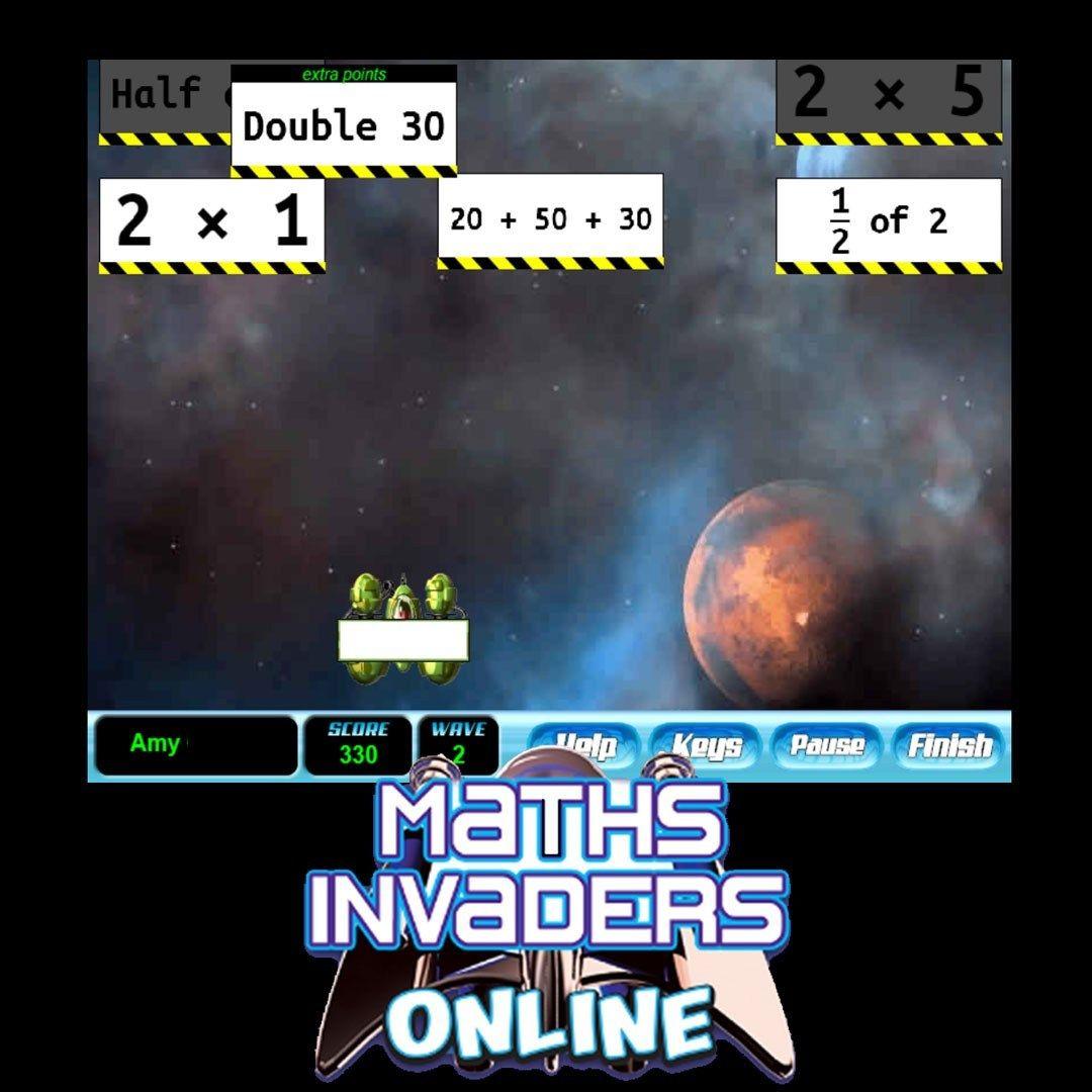 Maths Invaders Online