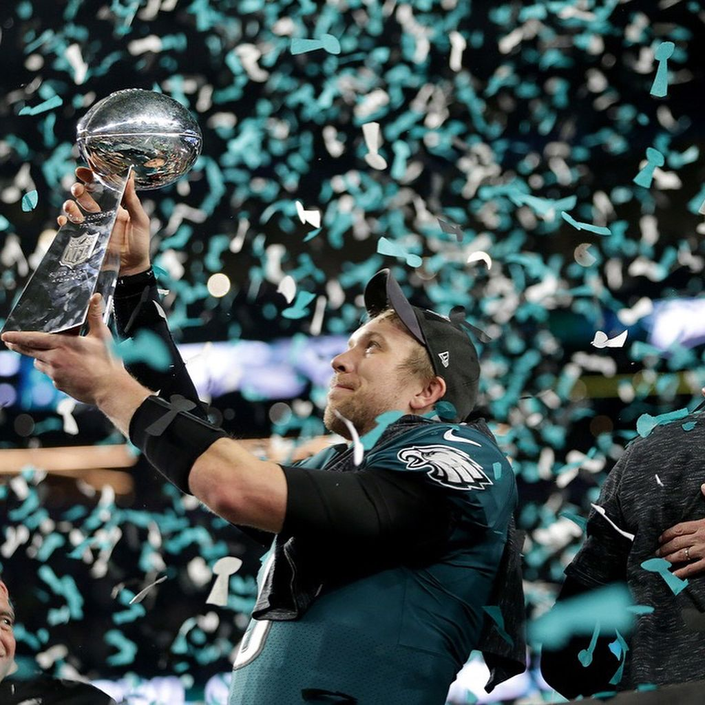 Nick Foles Is The Superbowl Mvp One Day After Losing Out On Coach Of The Year Doug Pederson Defeated Bill Belichi Coach Of The Year Doug Pederson Super Bowl