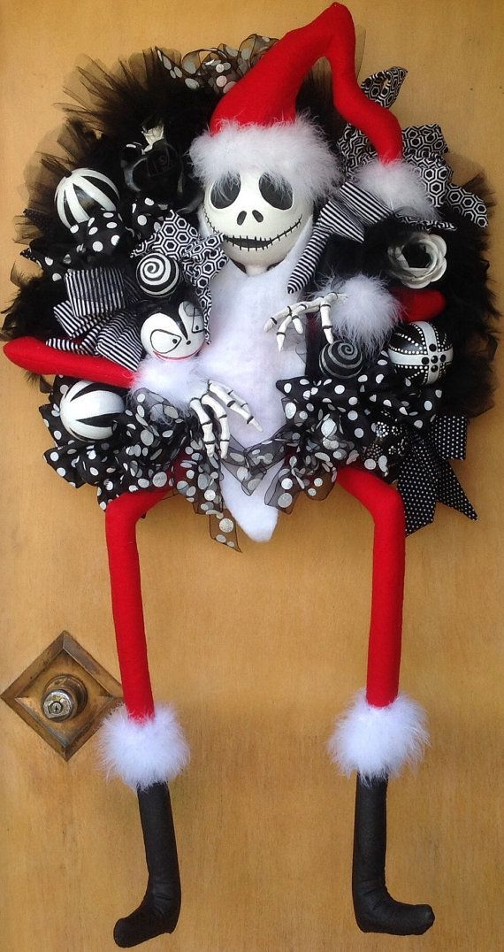 Photo of Nightmare Before Christmas Inspired Wreath, Christmas Wreath ….. Pre Order 2019