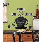 COFFEE CUP CHALKBOARD wall stickers MURAL 22 decals cafe beans kitchen chalk inc