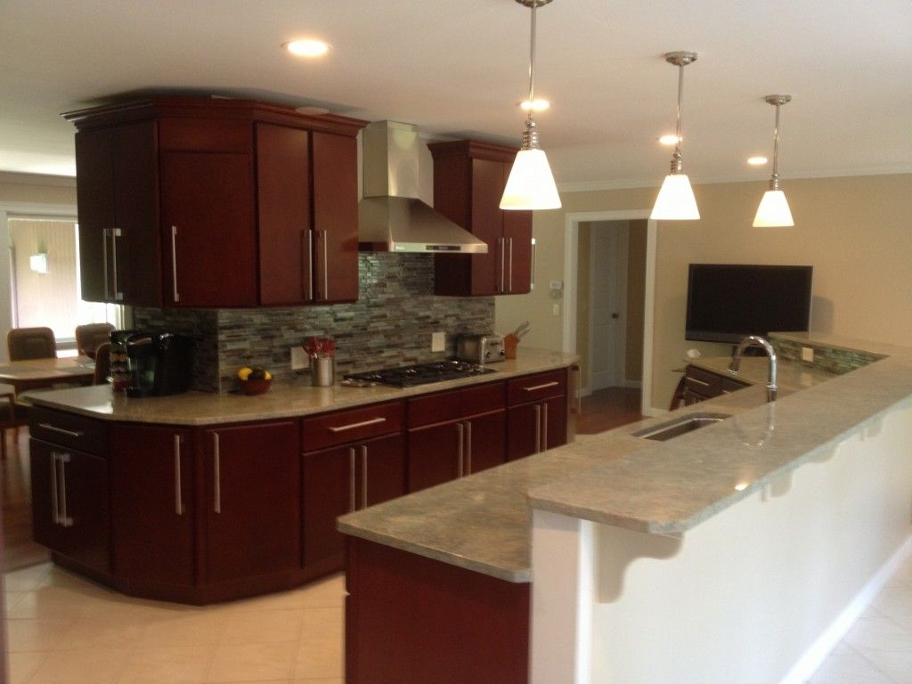 Modern Cherry Kitchen Cabinets the perfect kitchen wall color to be combined with cherry cabinets