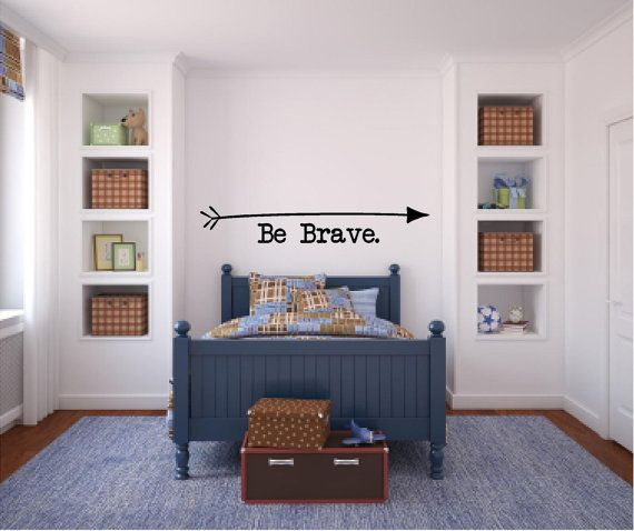 Be Brave Arrow Boy's Room Camp Outdoors Vinyl by sweetlittletweets, $20.00