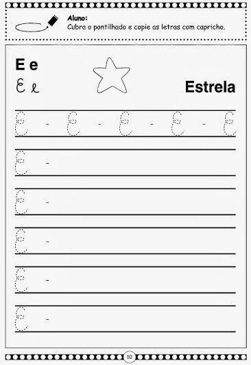Alfabeto Pontilhado Em Letra Cursiva Atividades Com Letra