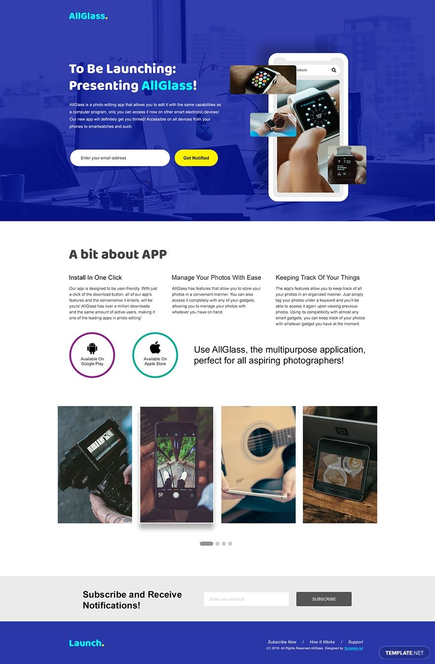 App launching Landing Page Template #AD, , #Ad, #launching, #App, #Landing, #Template, #Page