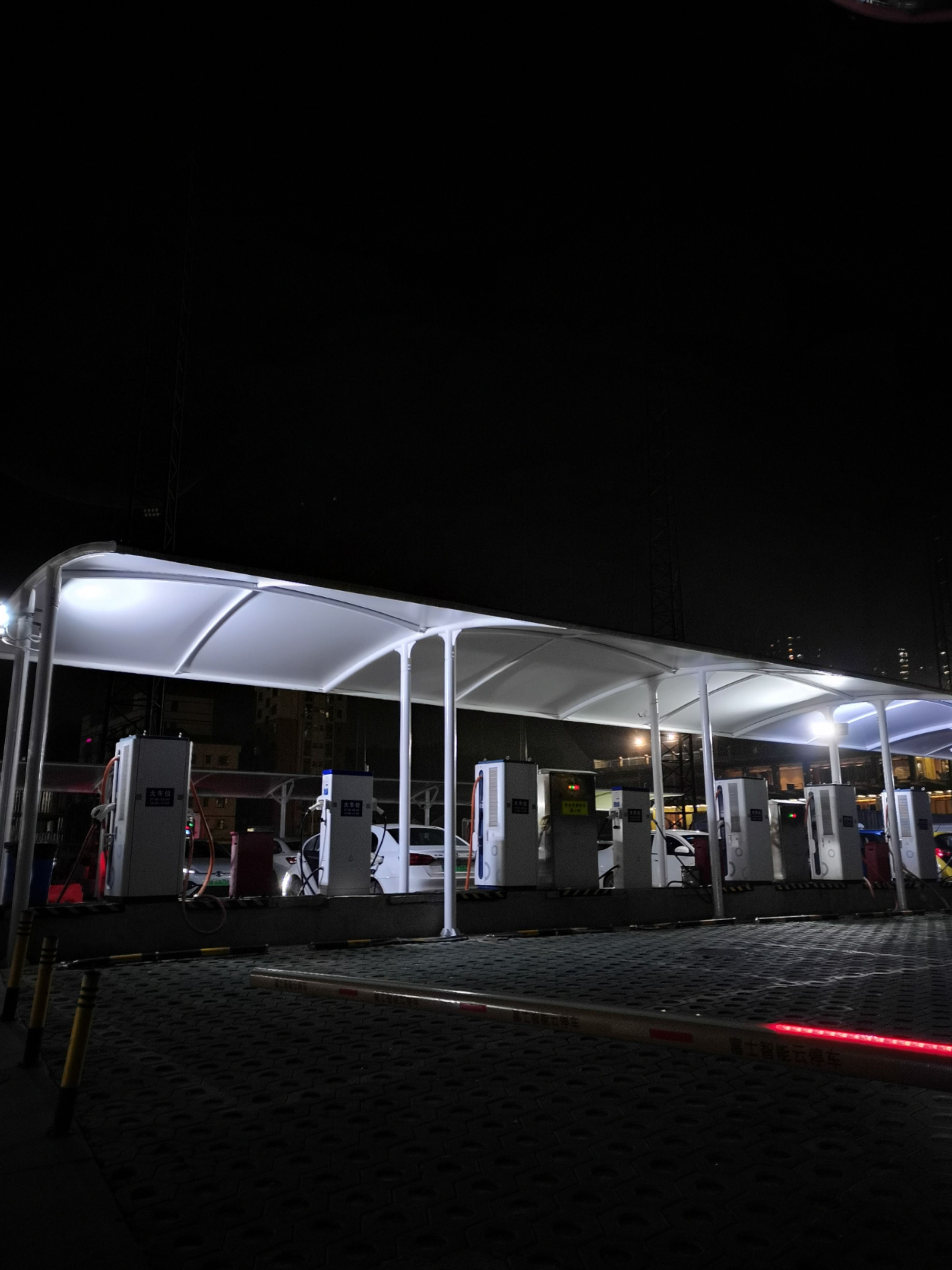 New Energy Vehicles Charging Station Fabric Canopy Car Parking Shade Sail Huizhou