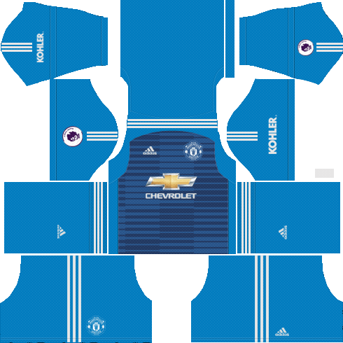 4c10a3abb Goalkeeper Manchester United Away Kit 2018 19 - Dream League Soccer Kits