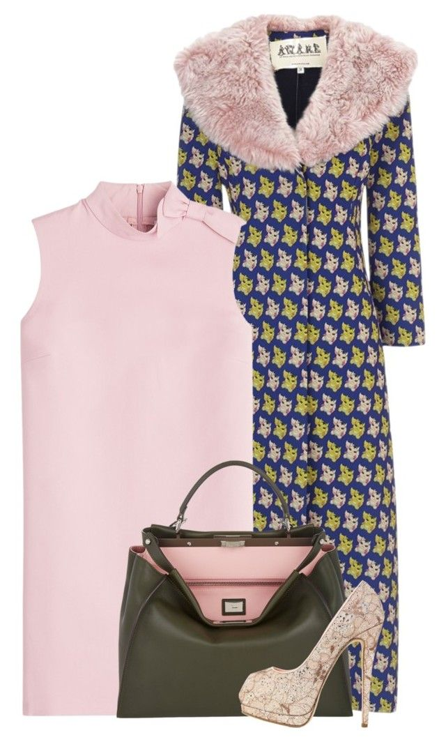 """""""Pink Theme"""" by cherieaustin on Polyvore featuring A.W.A.K.E., RED Valentino, Fendi, Giuseppe Zanotti, valentino, GiuseppeZanotti, fendi, awake and RedValentino"""