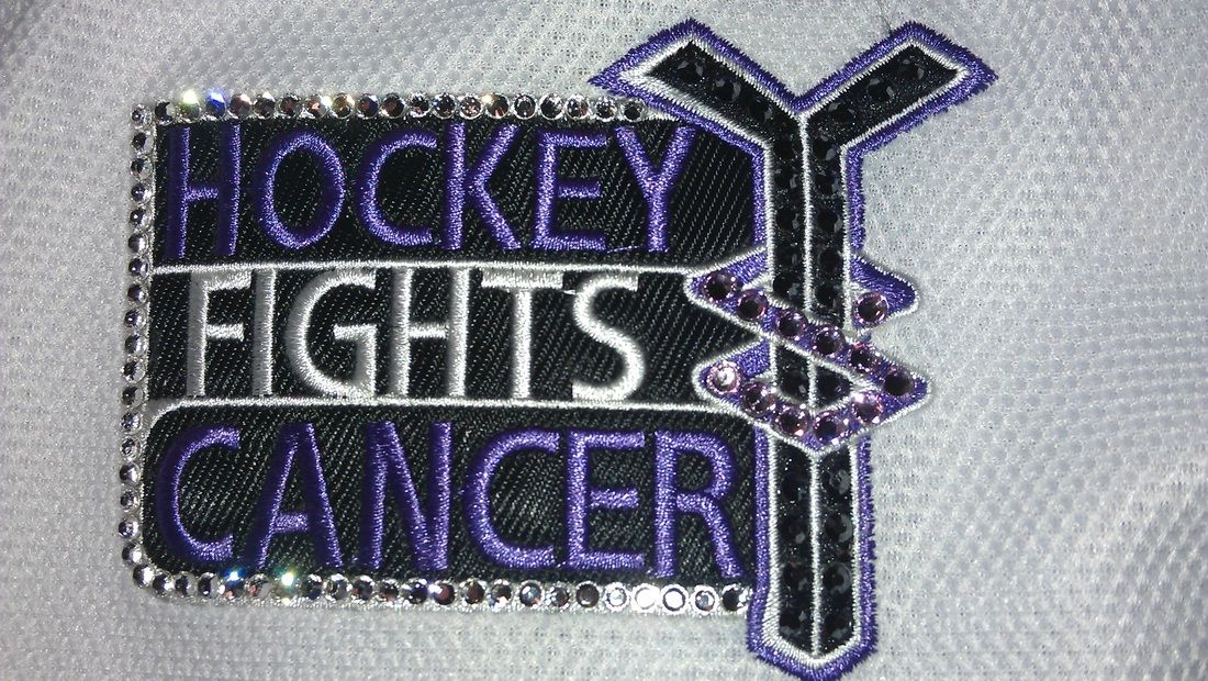 Hockey Fights Cancer Jersey Blinged Out Hockey Fights Hockey Cancer Fighting