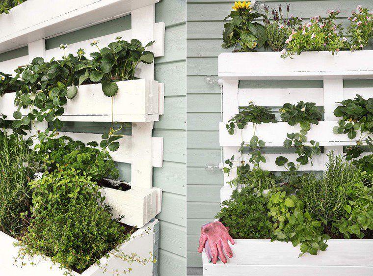 Fabriquer Une Jardinière Verticale En Palette : Tutos Et Idées