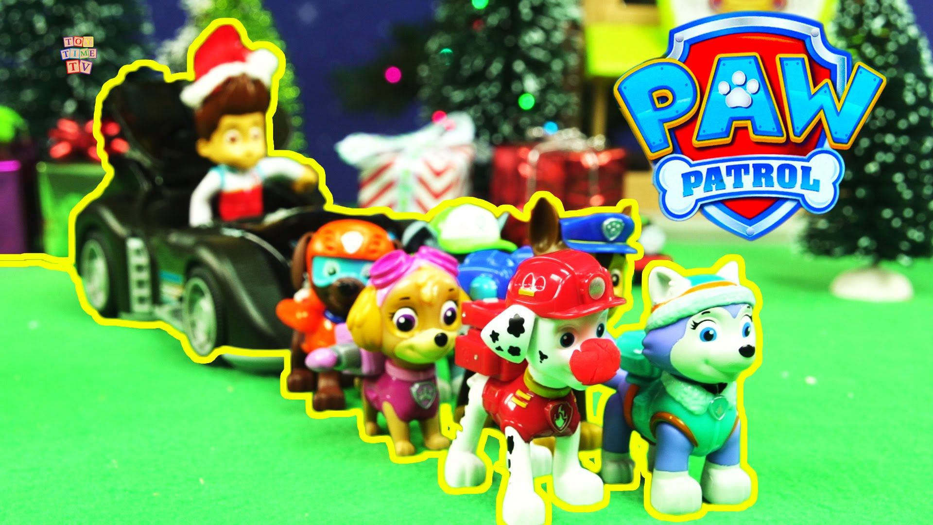 A Paw Patrol Christmas Marshal The Red Nosed Play Doh Puppy