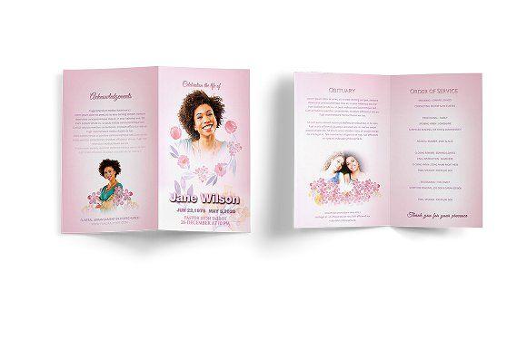 Funeral Program Template @creativework247 | Brochure Design ...