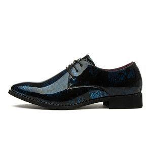 2016 New Fashion Pointed Toe Men Flats Shoes Designed Men Oxfords Shoes Lace Up Men Dress Leather Shoes Men Business Shoes