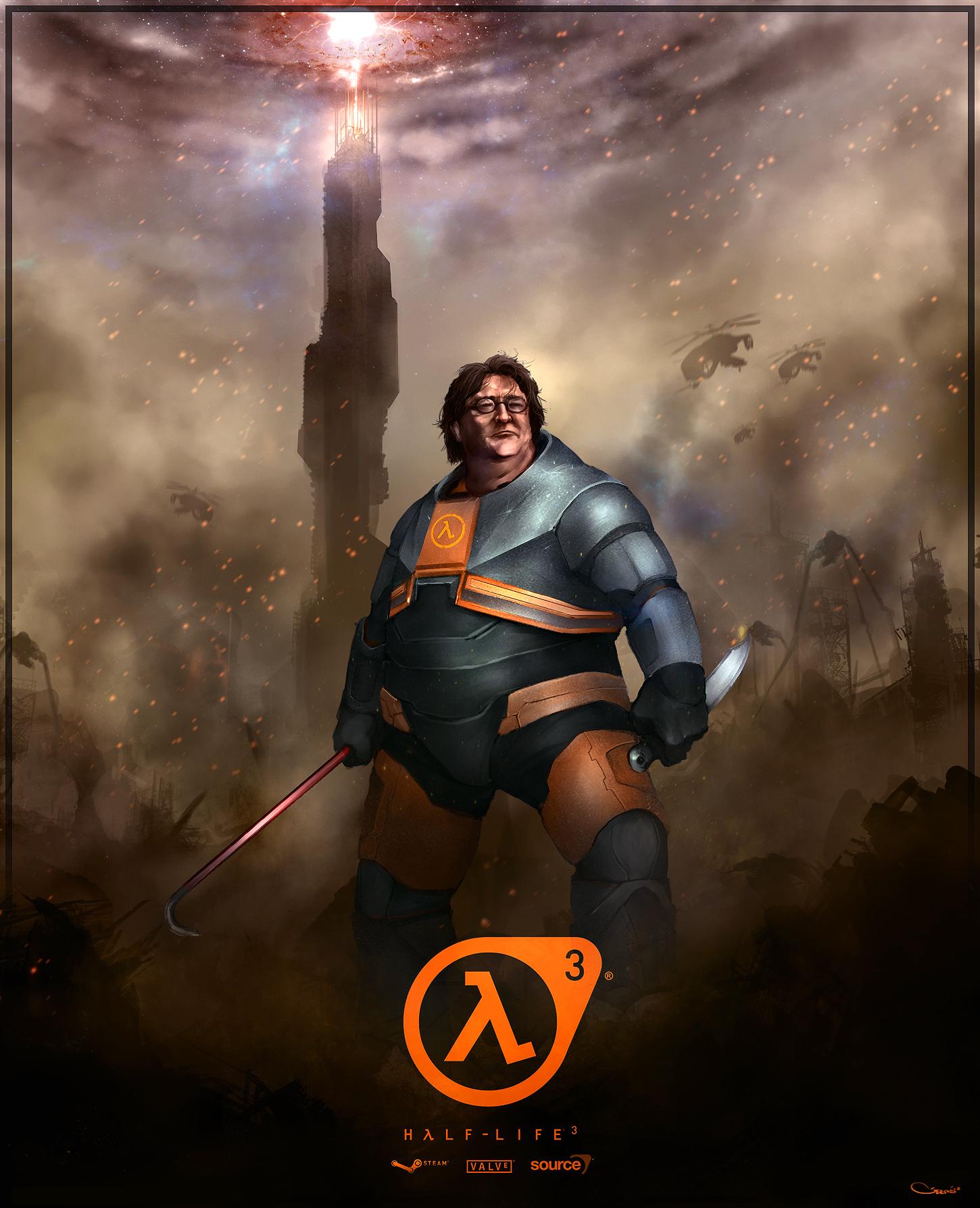 Gabe Newell Half Life 3 By Darrengeers Half Life Gabes Fan Art
