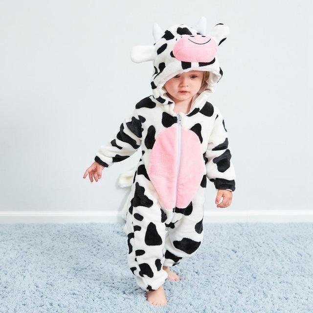 Baby Kids Toddler Animals Cosplay Unisex Cute Cartoon Pajamas Bodysuit Romper