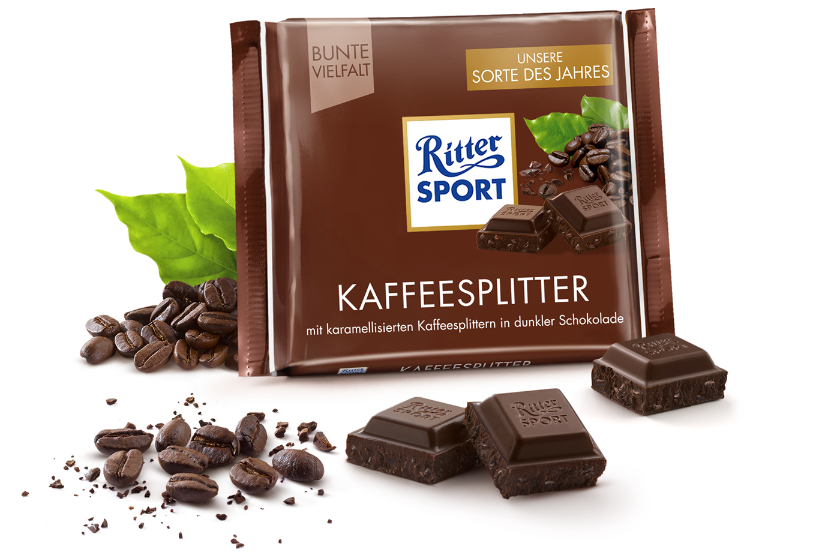 Kaffeesplitter Pralinen, Ritter sport, Dunkle schokolade