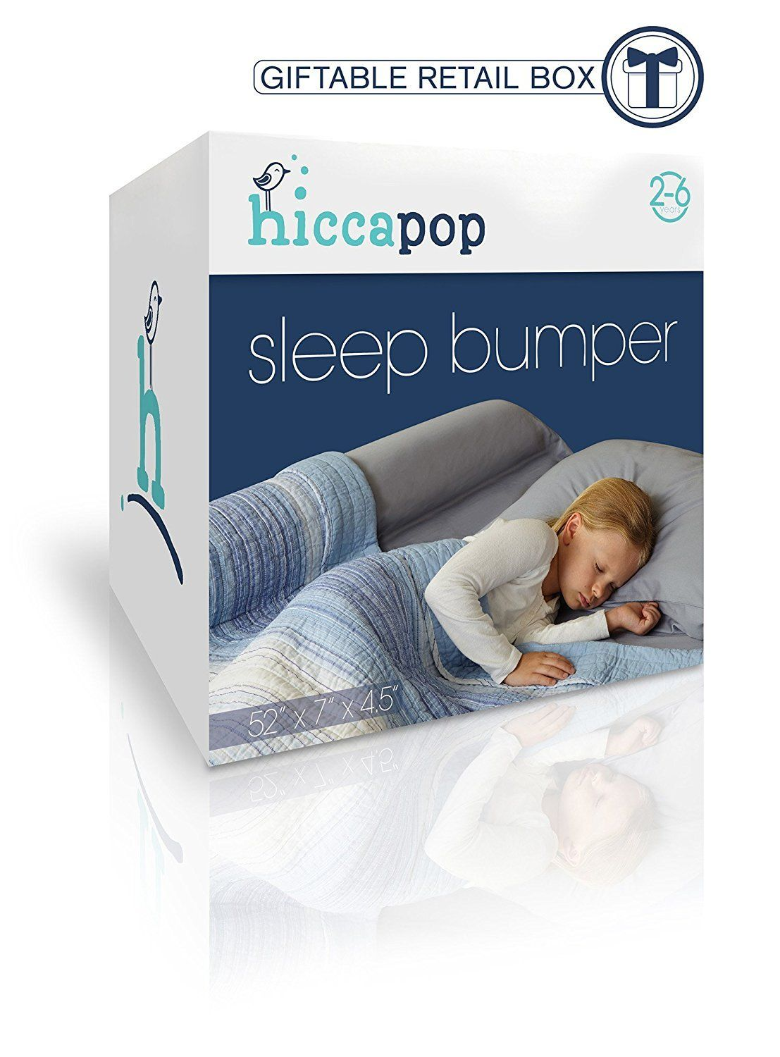 [1Pack] hiccapop Toddler Bed Rail Bumper / Foam Safety
