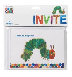 Pack 8 The Very Hungry Caterpillar Themed Childrens Birthday Party Invitations