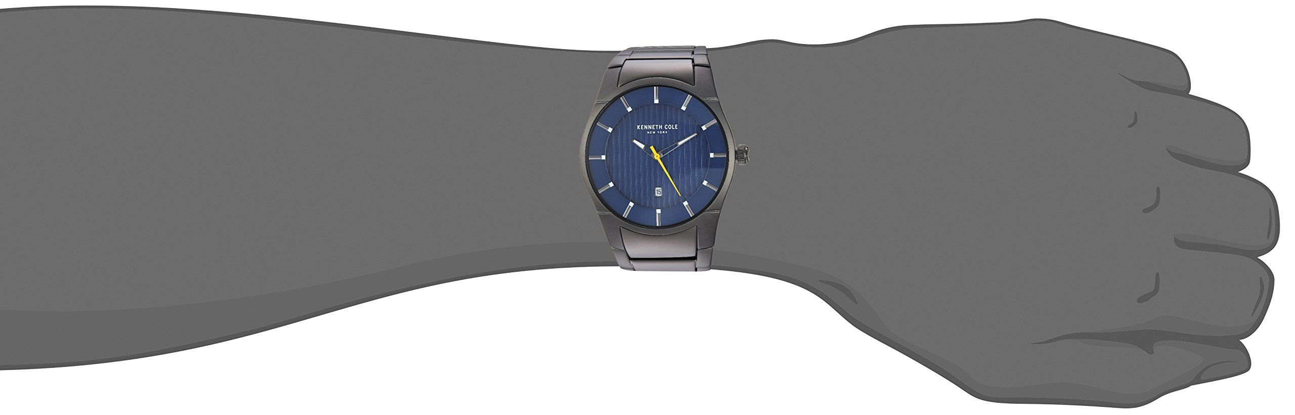 2d6a1cabfe7 Kenneth Cole New York Mens Quartz Stainless Steel Casual Watch Color Grey  Model  KC15103012 -- See the photo web link even more details.