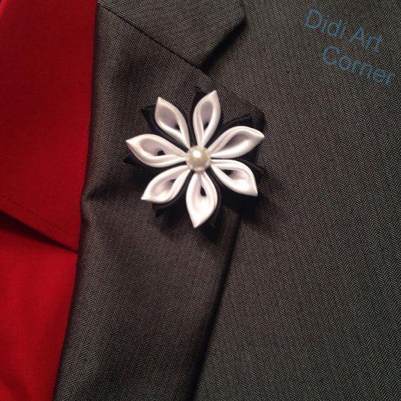 Flower lapel pin black and white flower lapel by didiartcorner flower lapel pin black and white flower lapel by didiartcorner mightylinksfo