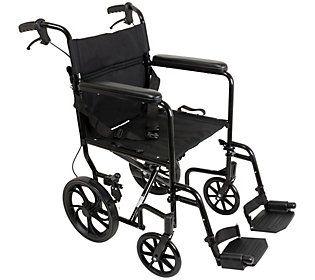 carex transport chair swivel base hardware probasics lightweight folding 19 seat
