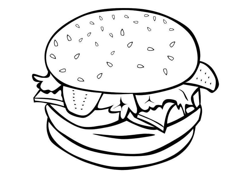 healthy fast food coloring pages - photo#23