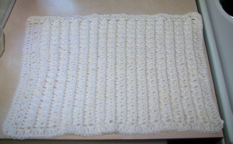 Dish Drying Mat Free Crochet Pattern Measures 13 X 19 Intermediate Level Free Cro Baby Blanket Crochet Pattern Crochet Patterns Crochet Baby Patterns