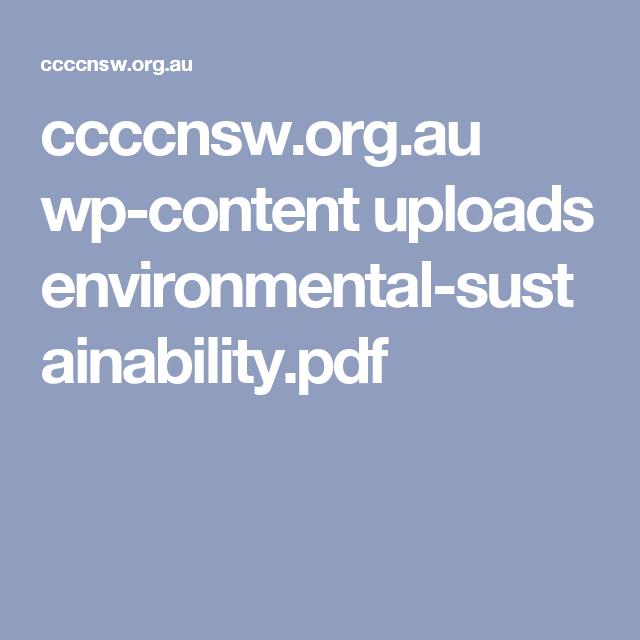 ccccnsw org au wp-content uploads environmental-sustainability pdf