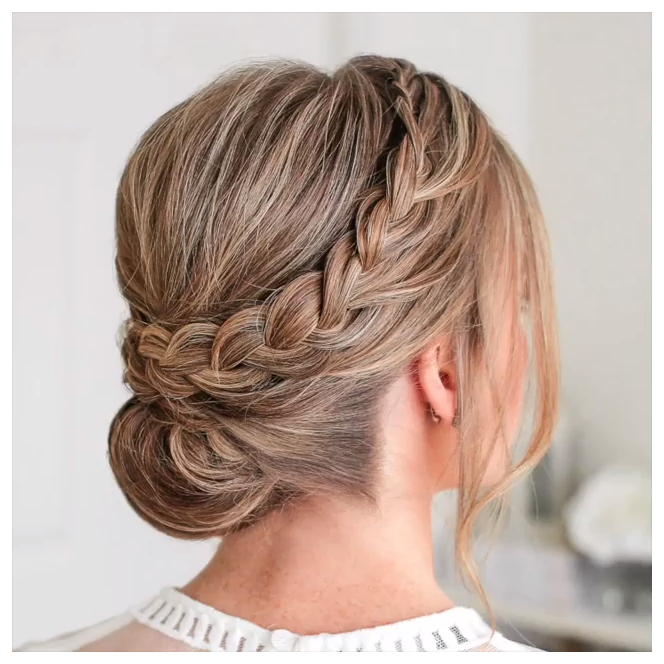bridesmaid hair short updo curls