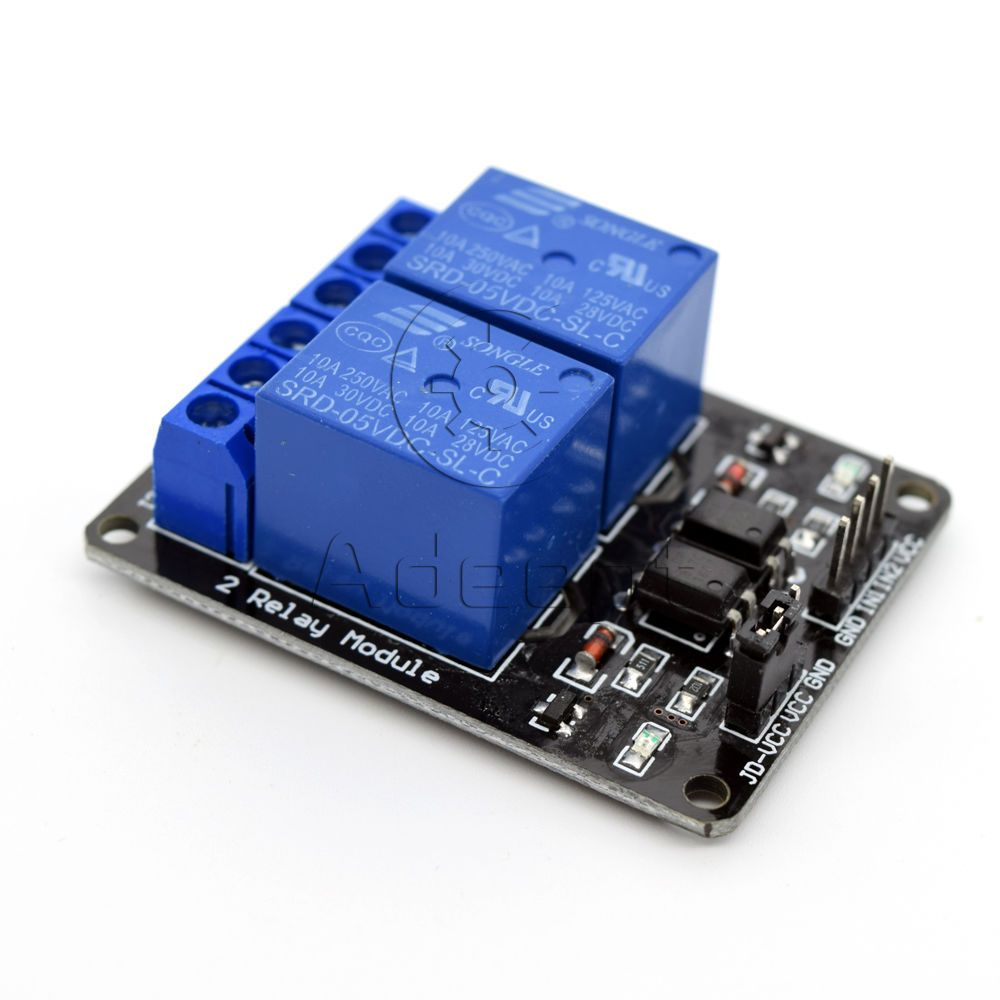 Adeept 5v 2 Channel Relay Board Module For Arduino Raspberry Pi Arm To Avr Dsp Pic