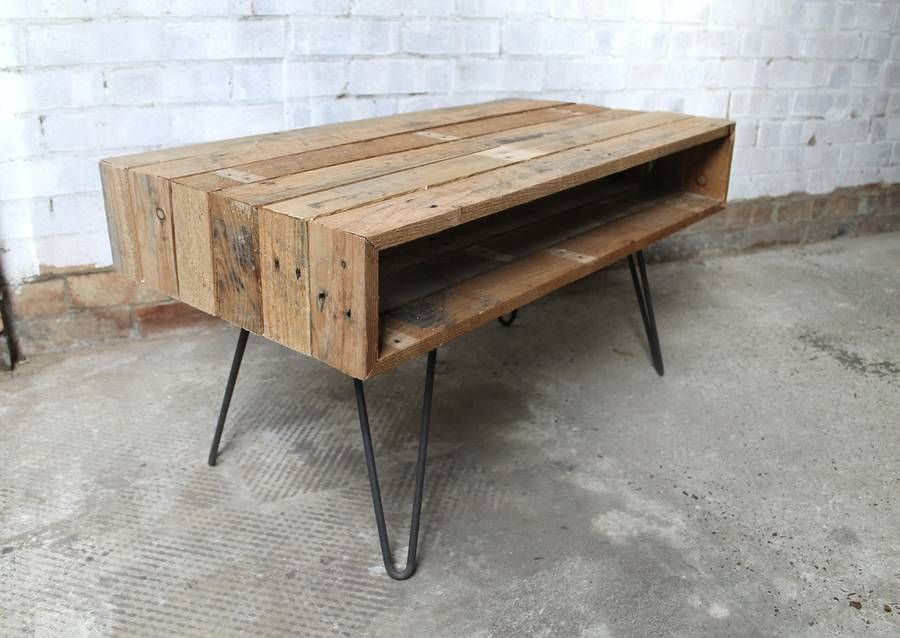'ringed' coffee table wiith hairpin legs by gas&air studios |  notonthehighstreet.com