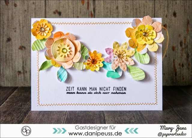 Aquarell Blumen Karten Mitmachmontag Blumenkarten Aquarell