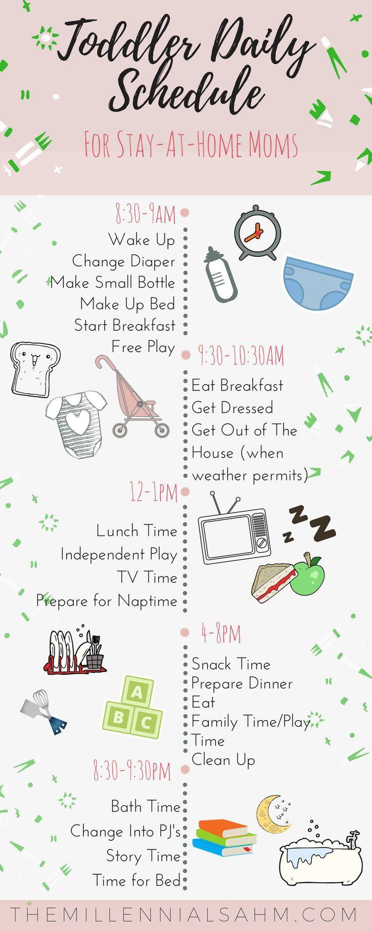 Beispiel-Zeitplan für Kleinkinder für Mütter, die zu Hause bleiben - The Millennial SAHM - #mom #stayathome