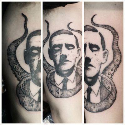 An H P Lovecraft Tattoo Tatoo Tatuagens
