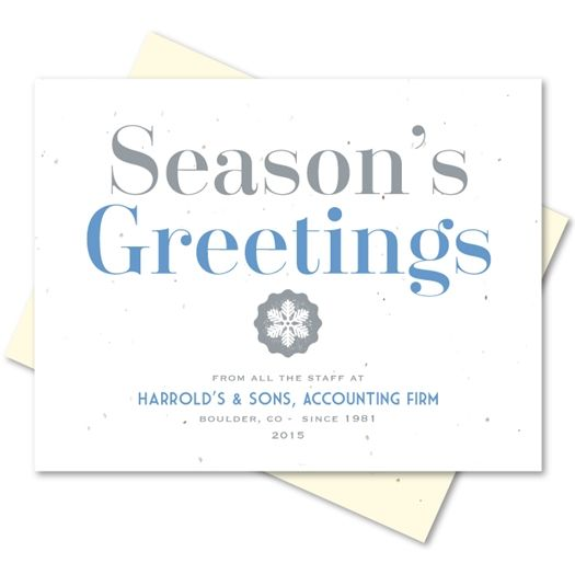 Organic greetings plantable holiday greeting cards green business holiday greetings cards on seeded paper organic greetings by green business print m4hsunfo