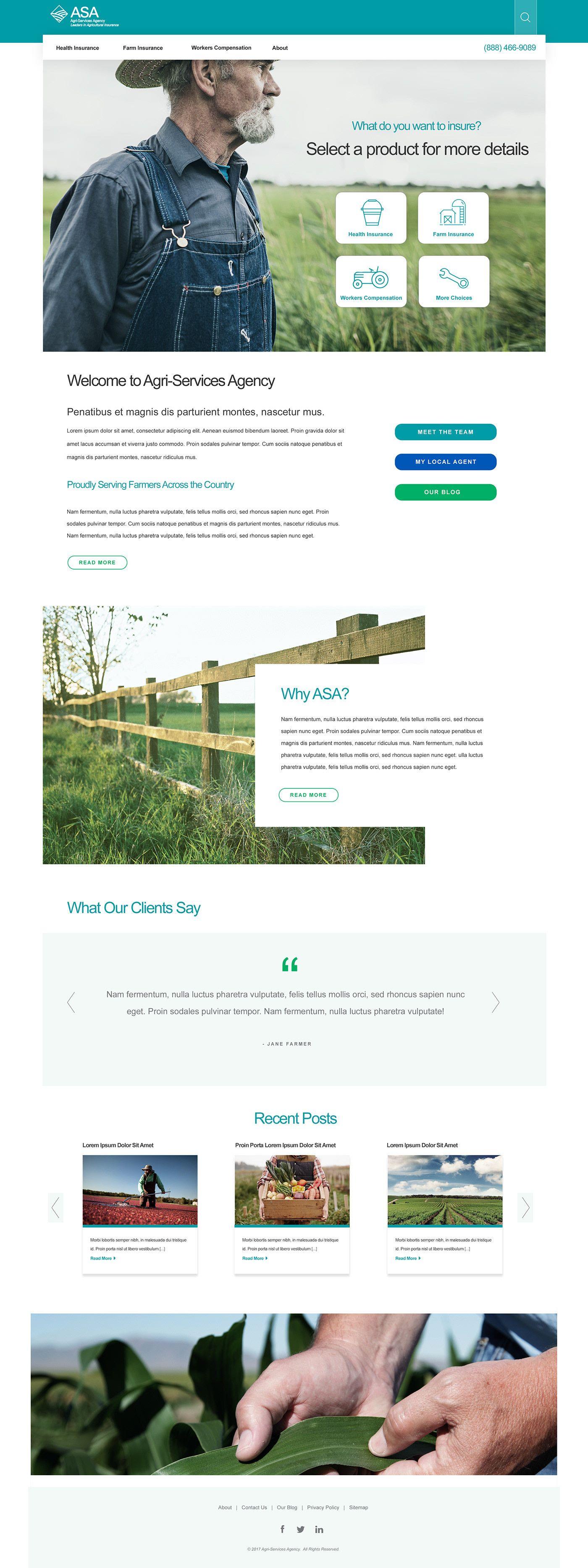"""Agricultural Insurance Website Design"" https//www"
