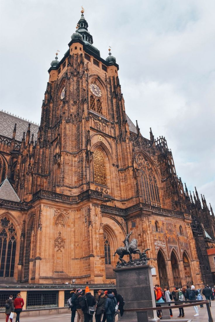 St. Vitus Cathedral Bell Tower at the Prague Castle in the Czech Republic | The Perfect 3 Days in Prague Travel Guide | Travel Guide for The Perfect 3 Days in Prague | 3 Perfect Days in Prague City Guide | Where to Stay, What to Eat, and What to Do in Prague in 3 Days | How to Spend the Perfect 3 Day Weekend in Prague | The Perfect 3 Day Weekend in Prague Travel Guide | 3 Day Weekend Prague City Guide | Whether you love castles, beauty, or are just hankering for a good beer, Czech Republic's...