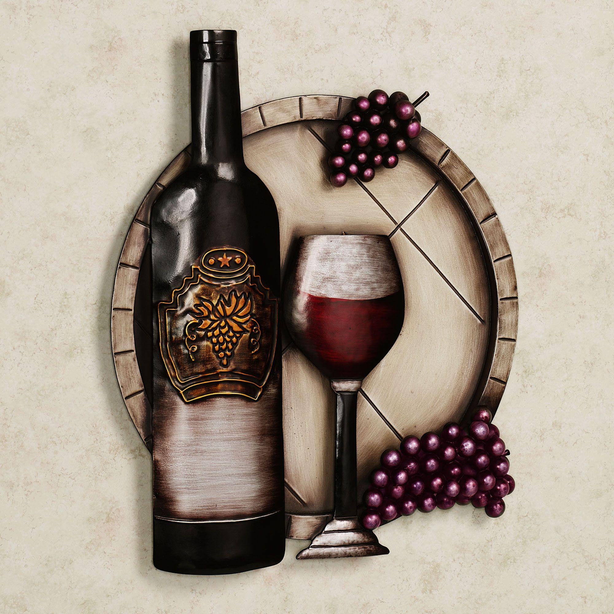 Cellar Reds Wine And Grape Metal Wall Art Wine Wall Art Wine Wall Decor Wine Wall