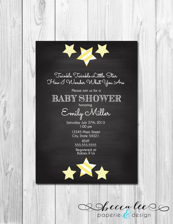 Twinkle twinkle little star chalkboard baby shower invitation twinkle twinkle little star chalkboard baby shower invitation gender neutral diy printable filmwisefo Gallery