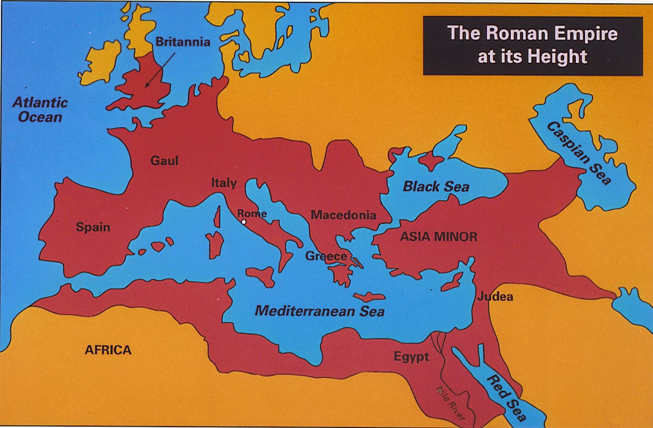Roman Empire Map At Its Height The Rich History   Map of the Roman Empire at it's Height | Roman