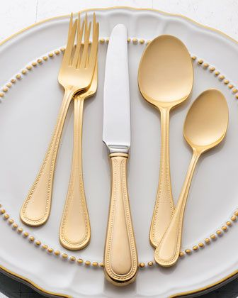 Gold Plated Flatware = LOVE