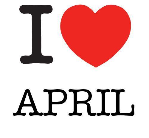 !¡  I Heart April #love #heart