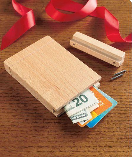 Gift Card Holder Money Wooden Puzzle Box Hidden Secret Compartment